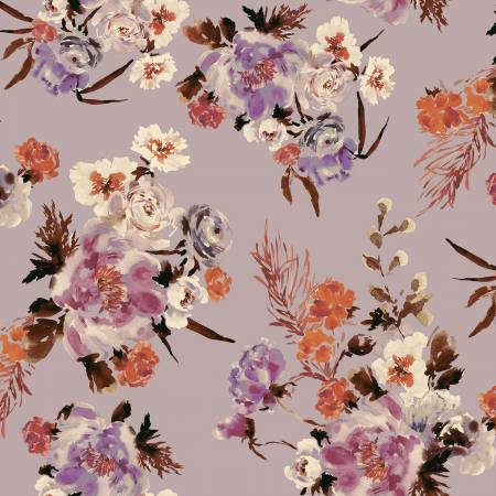 Wildflowers in Mauve - Weave & Woven