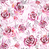 Moody Blooms Roses in Magenta, Quilting Cotton, Moda Fabrics - Weave & Woven