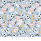 Blossom in Blue ~ Metallic, Quilting Cotton, Camelot Fabrics - Weave & Woven
