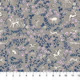 Mythical Animals in Grey, Quilting Cotton, Figo - Weave & Woven