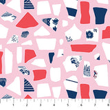 Sea Gems on Pink, Quilting Cotton, Figo - Weave & Woven