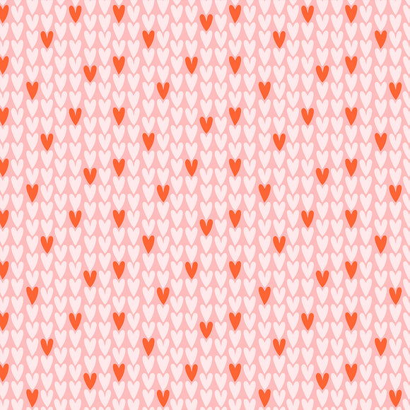 Hearts on Pink - Weave & Woven