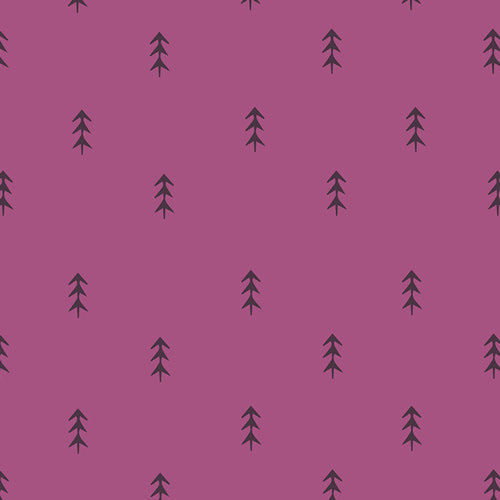 Simple Defoliage in Violet, Autumn Vibes Collection by Maureen Cracknell for Art Gallery Fabrics, Weave and Woven
