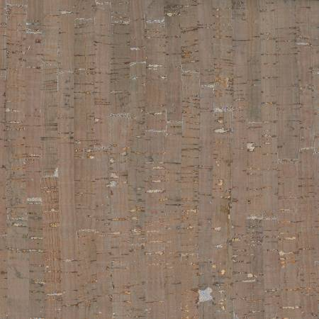 Taupe/Silver Cork ~ Metallic Silver, Cork, The Cork Fabric - Weave & Woven