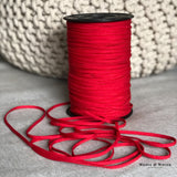 "Red Soft Stretch 1/4"" Elastic - Weave & Woven"