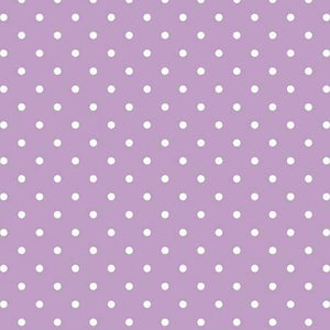 Swiss Dots on Lavender, Quilting Cotton, Riley Blake Fabrics - Weave & Woven