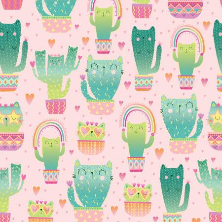 Pink Quirky Cat Cacti