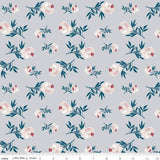 Roses on Grey, Quilting Cotton, Riley Blake Fabrics - Weave & Woven