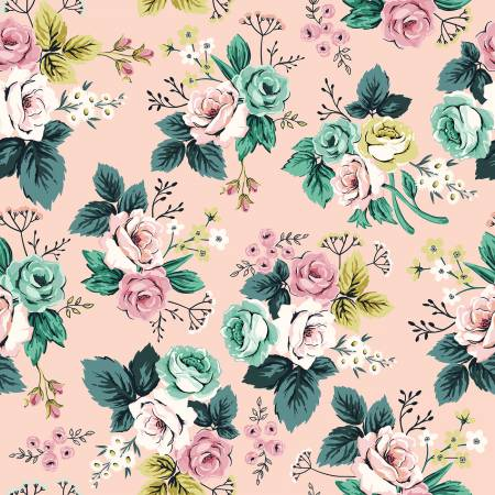 Splendor Roses in Pink, Quilting Cotton, Riley Blake Fabrics - Weave & Woven