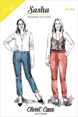 Sasha Trousers Pattern, Women's Clothing Pattern
