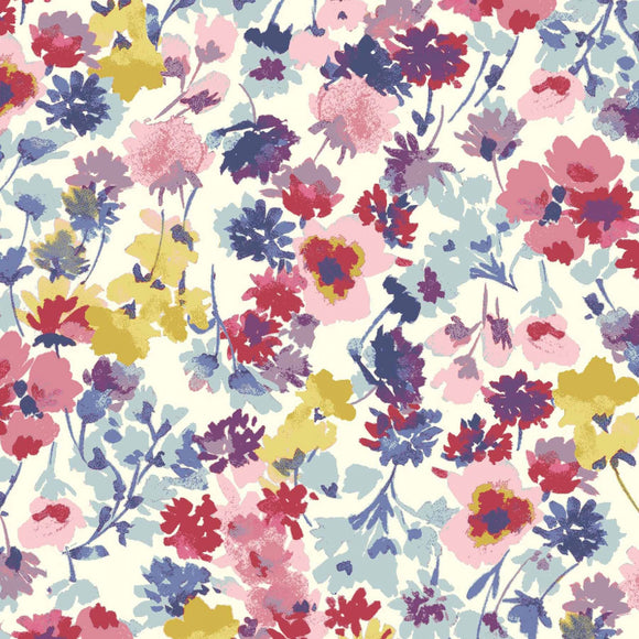 Flower Garden in Summer | Cotton Lawn - Weave & Woven