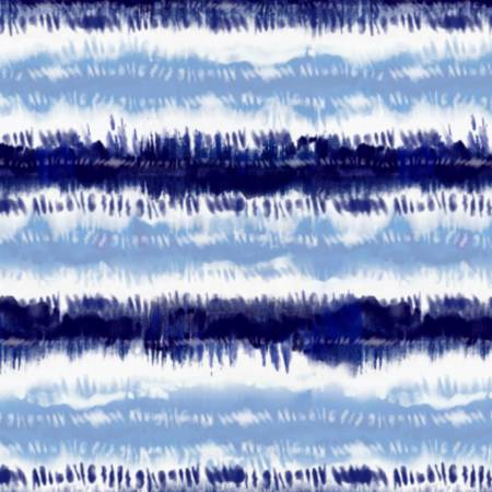 Indigo Ink Blot Stripe | Knit