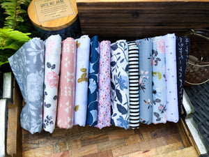 August Large Fat Quarter Bundle, The Fabric Club, Weave & Woven - Weave & Woven