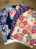 Floral Scrap Pack, 20 Pieces of Scrap Fabric, Bundle, Weave and Woven