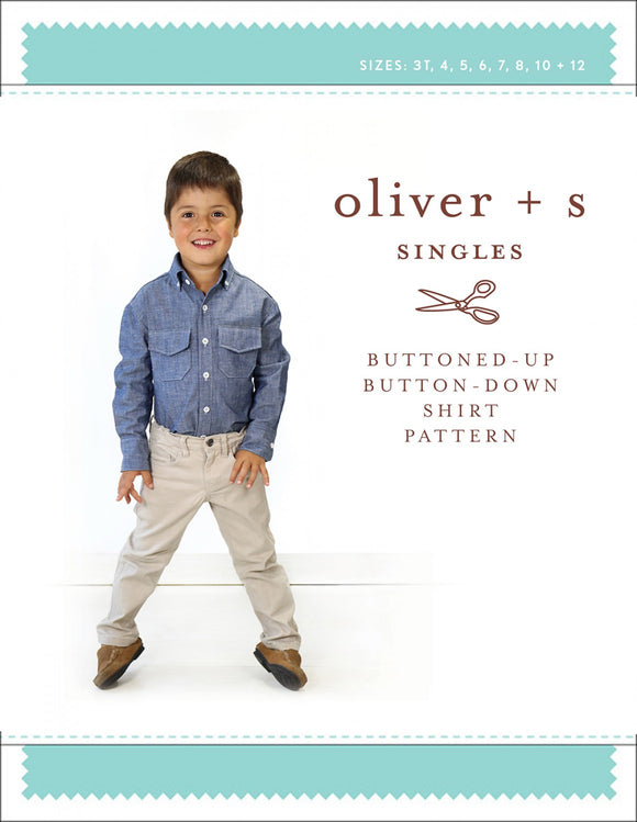 Buttoned-Up Buttoned-Down Shirt Pattern by Oliver + s, Weave and Woven