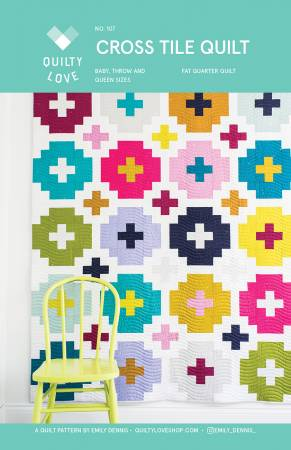 Cross Tile Quilt Pattern, Pattern, Quilty Love - Weave & Woven