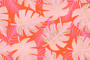 Florida Shade Palms in Fire | Metallic, Quilting Cotton, Ruby Star Society - Weave & Woven