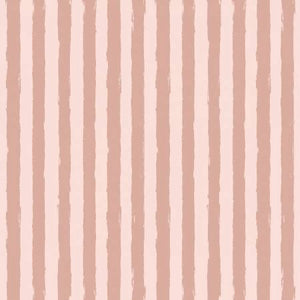 Pink Stripes ~ Metallic Rose Gold, Quilting Cotton, Riley Blake Fabrics - Weave & Woven