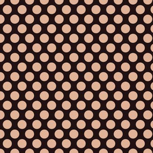 Glam Girl Dots in Black ~ Metallic Rose Gold - Weave & Woven