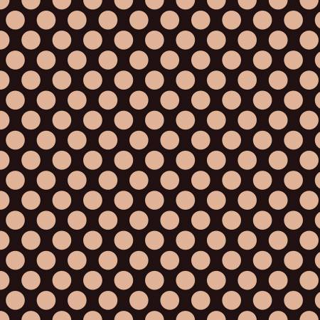 Glam Girl Dots in Black ~ Metallic Rose Gold, Quilting Cotton, Riley Blake Fabrics - Weave & Woven