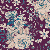 Floral Universe in Plum, Quilting Cotton, Art Gallery Fabrics - Weave & Woven