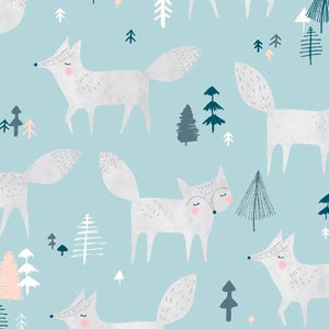 Silver Fox in Ice, The Big Freeze Collection for Dear Stella Fabrics, Weave and Woven
