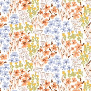 Grouped Florals on White, Quilting Cotton, Dear Stella - Weave & Woven