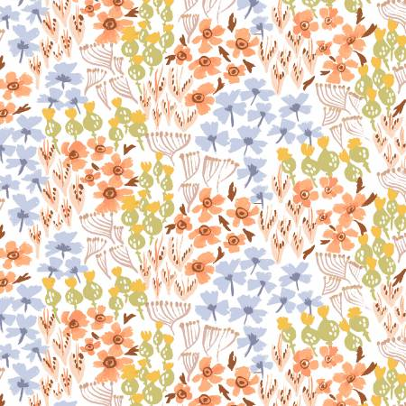 Grouped Floral on White, Botany Collection by Rae Ritchie for Dear Stella Fabric, Weave and Woven
