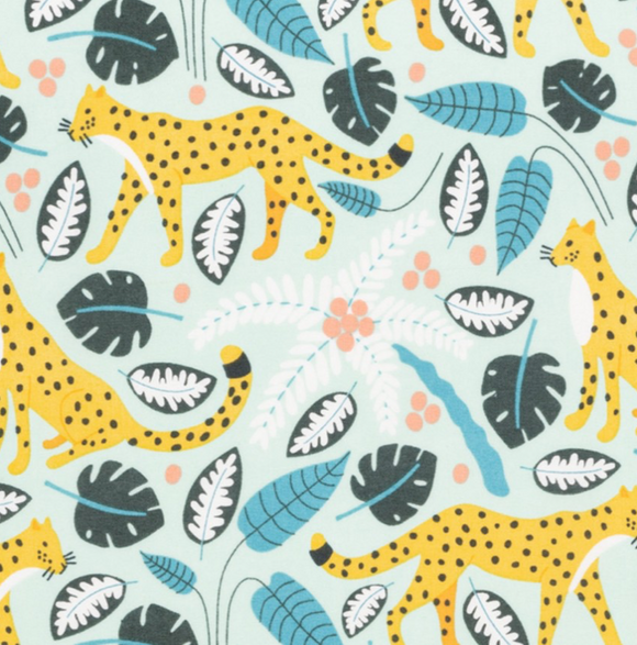 Garden Leopards on Pastel | Organic Cotton - Weave & Woven