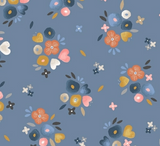 Koala Florals on Blue, Quilting Cotton, Windham - Weave & Woven