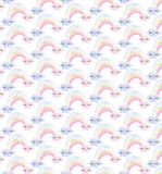 Unicorn Rainbows on White | Gold Sparkle, Quilting Cotton, 3 Wishes - Weave & Woven