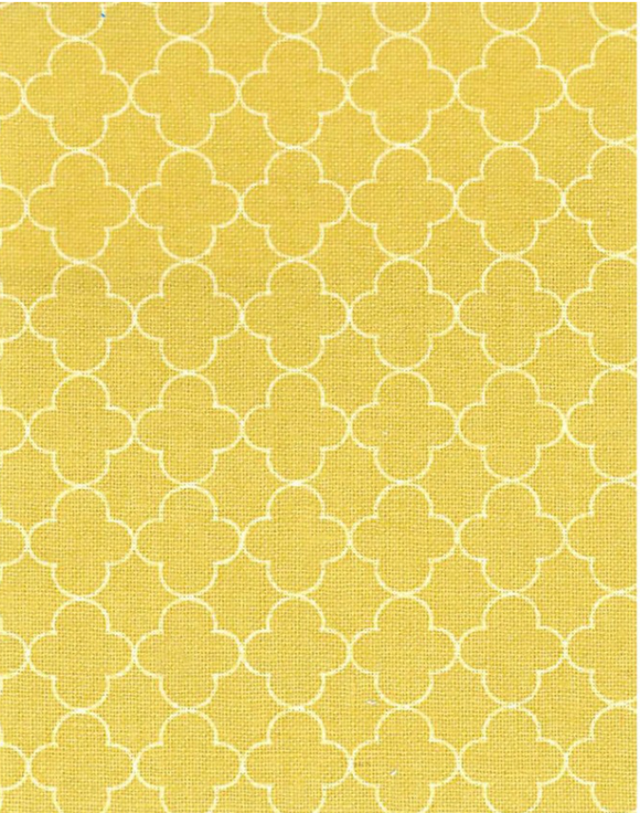 Quatrefoil in Golden, Quilting Cotton, Elite - Weave & Woven