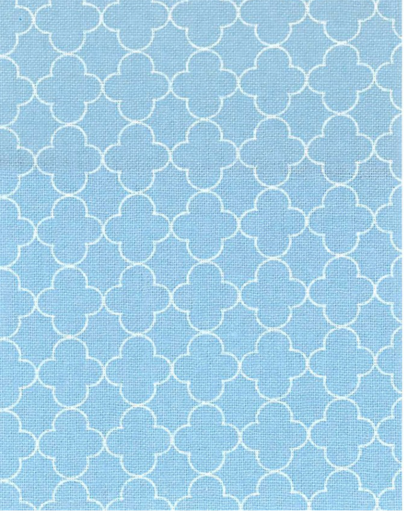 Quatrefoil in Powder Blue, Quilting Cotton, Elite - Weave & Woven