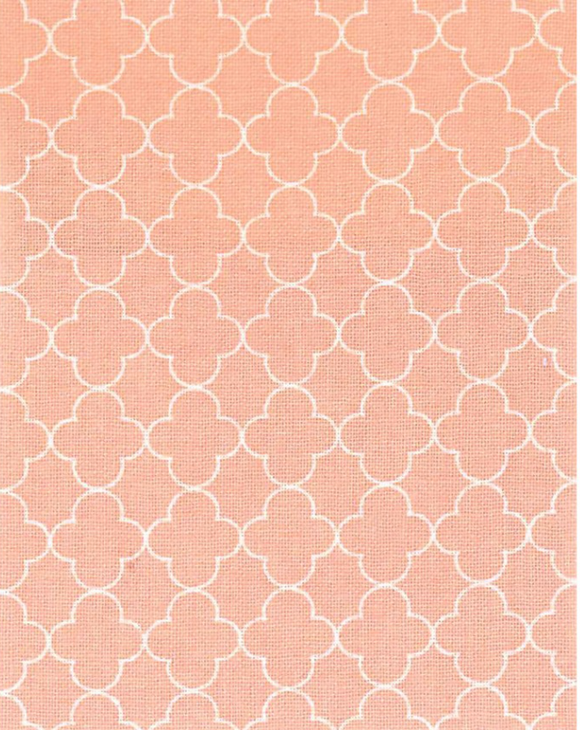 Quatrefoil in Peach, Quilting Cotton, Elite - Weave & Woven