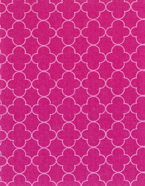 Quatrefoil in Raspberry, Quilting Cotton, Elite - Weave & Woven
