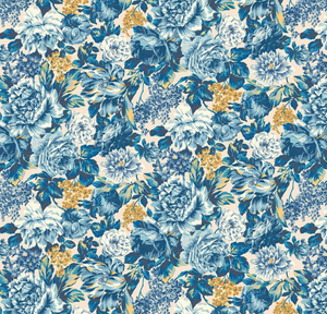 Wild Blooms in Blues - Weave & Woven