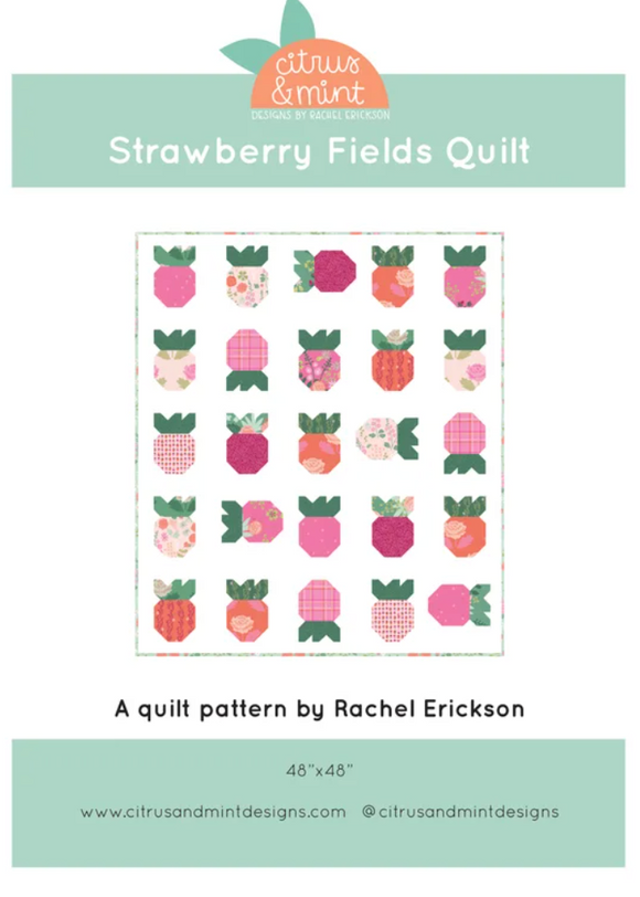 Strawberry Fields Quilt Pattern - Weave & Woven