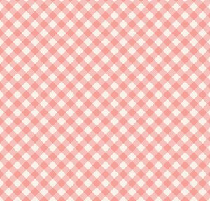 Gingham Garden Check in Coral - Weave & Woven