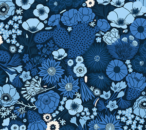 Prickly Blue Florals - Weave & Woven