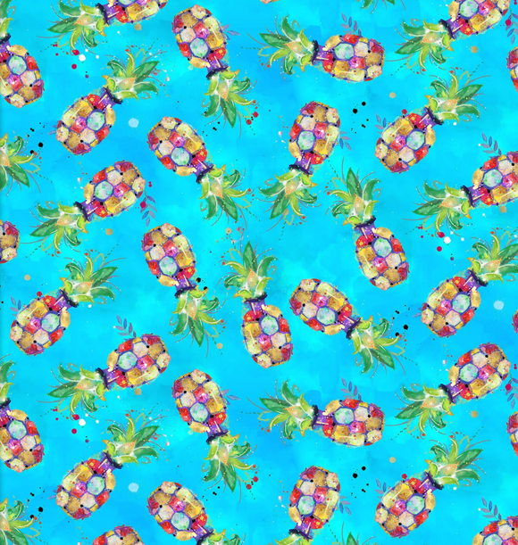 Turquoise Pineapples - Weave & Woven