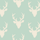 Buck Forest Mint, Hello, Bear Collection by Bonnie Christine For Art Gallery Fabrics ~ Weave and Woven