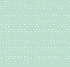 Mini Hearts in Mint, Mini Hearts Collection by Wee Gallery for Dear Stella ~ Weave and Woven