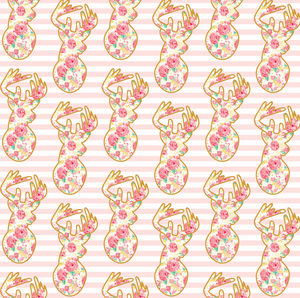 Deer in Pink ~ Metallic, Quilting Cotton, Riley Blake Fabrics - Weave & Woven