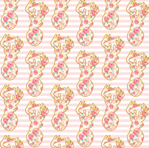 Deer in Pink, Just Sayin Collection for Riley Blake Fabrics, Weave and Woven
