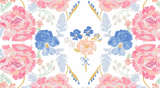 Royal Gardens in White, Royal Picnic Collection by Rae Ritchie For Dear Stella