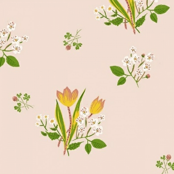 Spring Blooms in Pink, Kinder Collection by Heather Ross for Windham Fabrics, Weave and Woven
