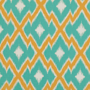 Aztec Ikat in Teal, Quilting Cotton, Free Spirit - Weave & Woven