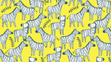 Zebraville in Banana, Quilting Cotton, Dear Stella - Weave & Woven