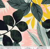 Tropical Fronds in Ivory, Quilting Cotton, Blend Fabrics - Weave & Woven