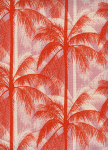 Palms in Peach, Poolside Collection for Cotton & Steel Fabrics, Weave and Woven